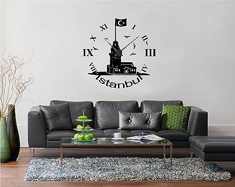 Reloj con adhesivo decorativo para torre de la doncella de nombre, incluye reloj (Negro
