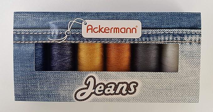 Ackermann – Juego de Hilos de Costura para Vaqueros, Grosor 80, 6 ...