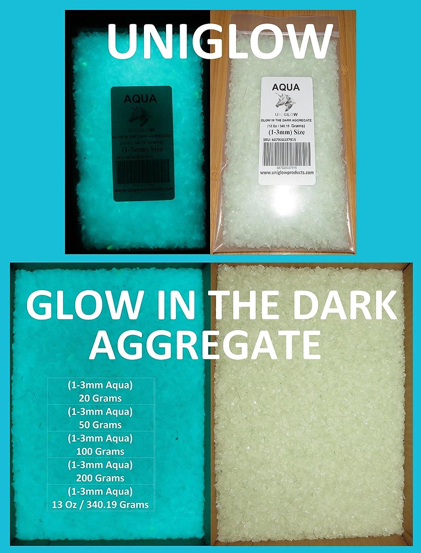 UniGlow 暗闇で輝く蛍光粉末染料  500g Aggregate 1-3mm 687928337366 B06XR5WP2S 50g Aggregate 1-3mm Aggregate AQUA Aggregate AQUA 50g Aggregate 1-3mm