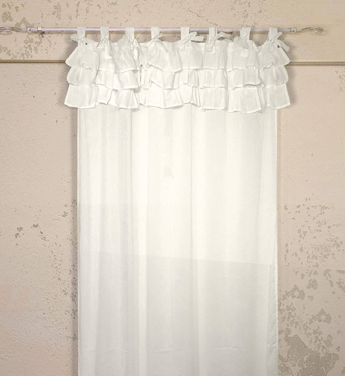Tenda con balze Shabby Chic Etoile Collection 130 x 290 cm Colore ...
