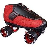 VNLA Code Red Jam Skate Mens & Womens Skates - Roller Skates for Women & Men - Adjustable Roller Skate/Rollerskates - Outdoor & Indoor Adult Skate - Kid/Kids Skates (Red/Black)