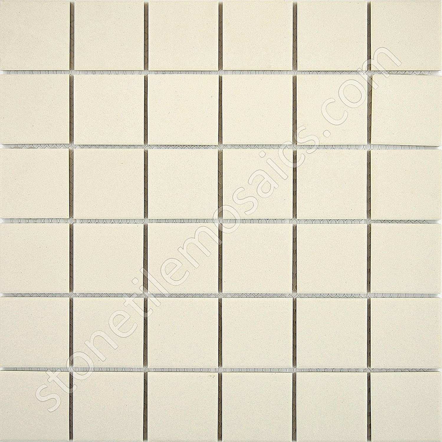 White unglazed porcelain mosaic square 2x2 inch porcelain floor white unglazed porcelain mosaic square 2x2 inch porcelain floor wall tile 10 pcs10 sq ft per case 1 standard shipping ceramic tiles amazon dailygadgetfo Choice Image