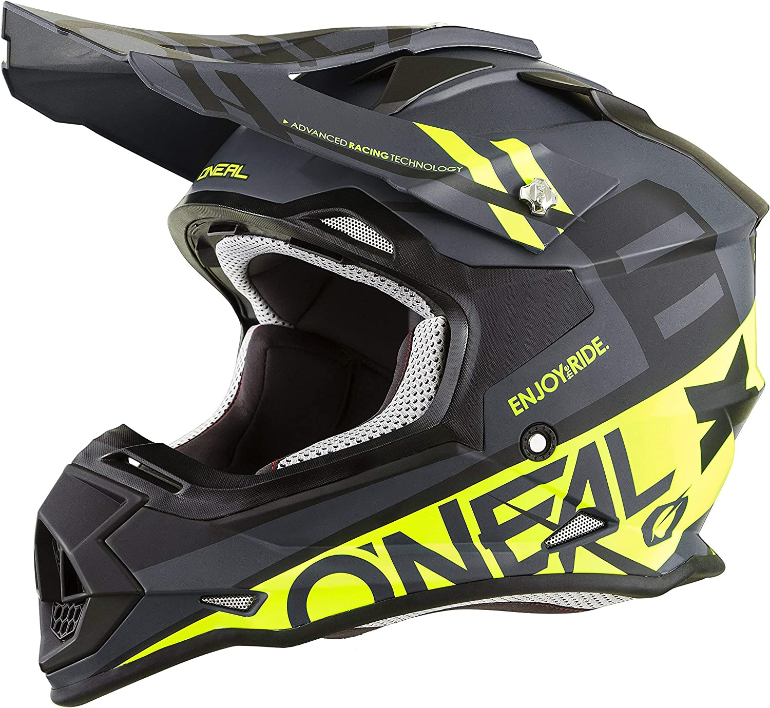 O'Neal 0200-215 Unisex-Adult Off-Road Style 2SERIES Helmet SPYDE black