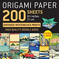 """Origami Paper 200 sheets Japanese Woodblock Prints 8 1/4"""": Extra Large Tuttle Origami Paper: High-Quality Double Sided…"""