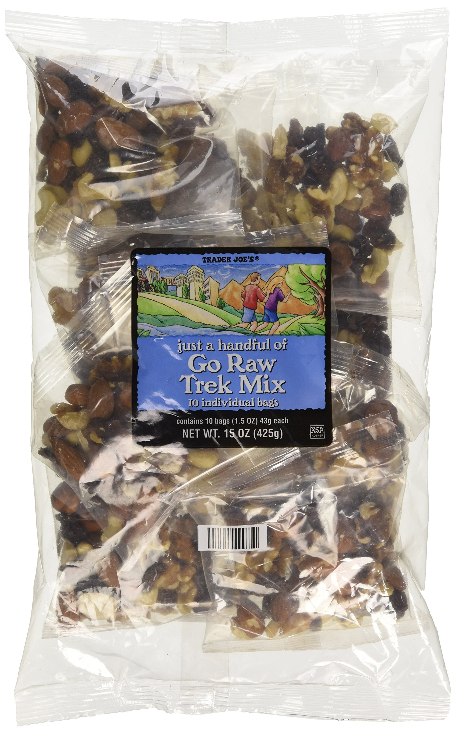 Trader Joe's Just A Handful Of Go Raw Trek Mix 10 Individual Bags