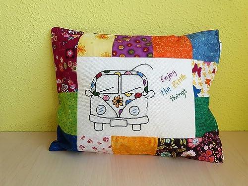 Cojín bordado y patchwork: Amazon.es: Handmade
