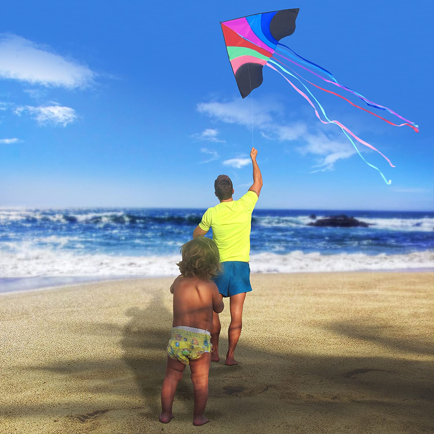 Amazon Tomi Kite – Huge Rainbow Kite Ideal for Kids and