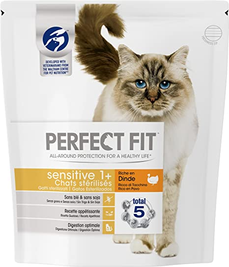 PERFECT FIT Sensitive stérilisé pienso con Boas la para Gato Sensible 1,4 kg