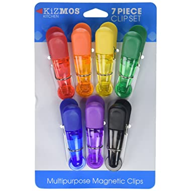Kizmos Bag Clips (Set of 7), Assorted