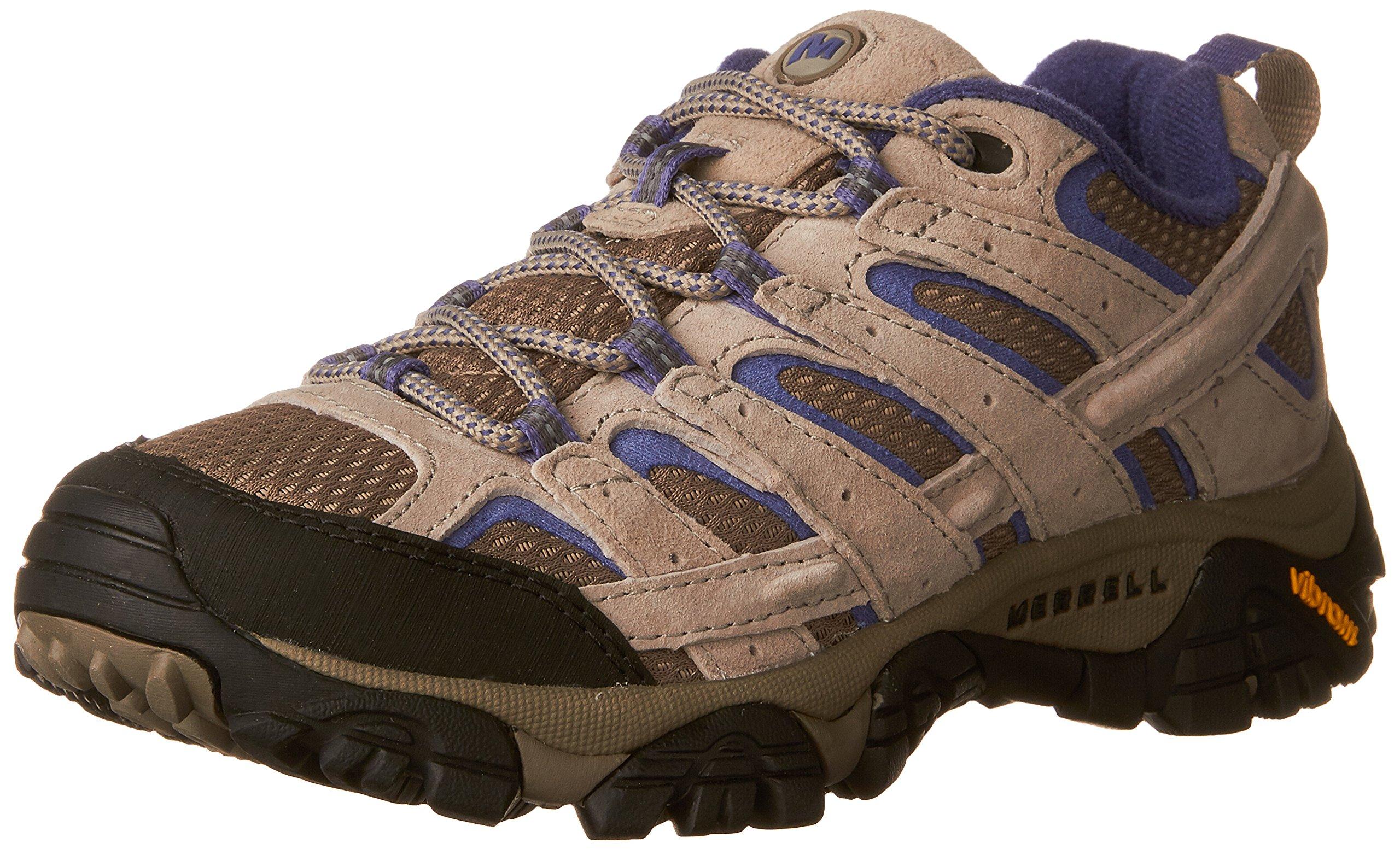 Merrell Women's Moab 2 Vent Hiking Shoe, Aluminum/Marlin, 8 M US