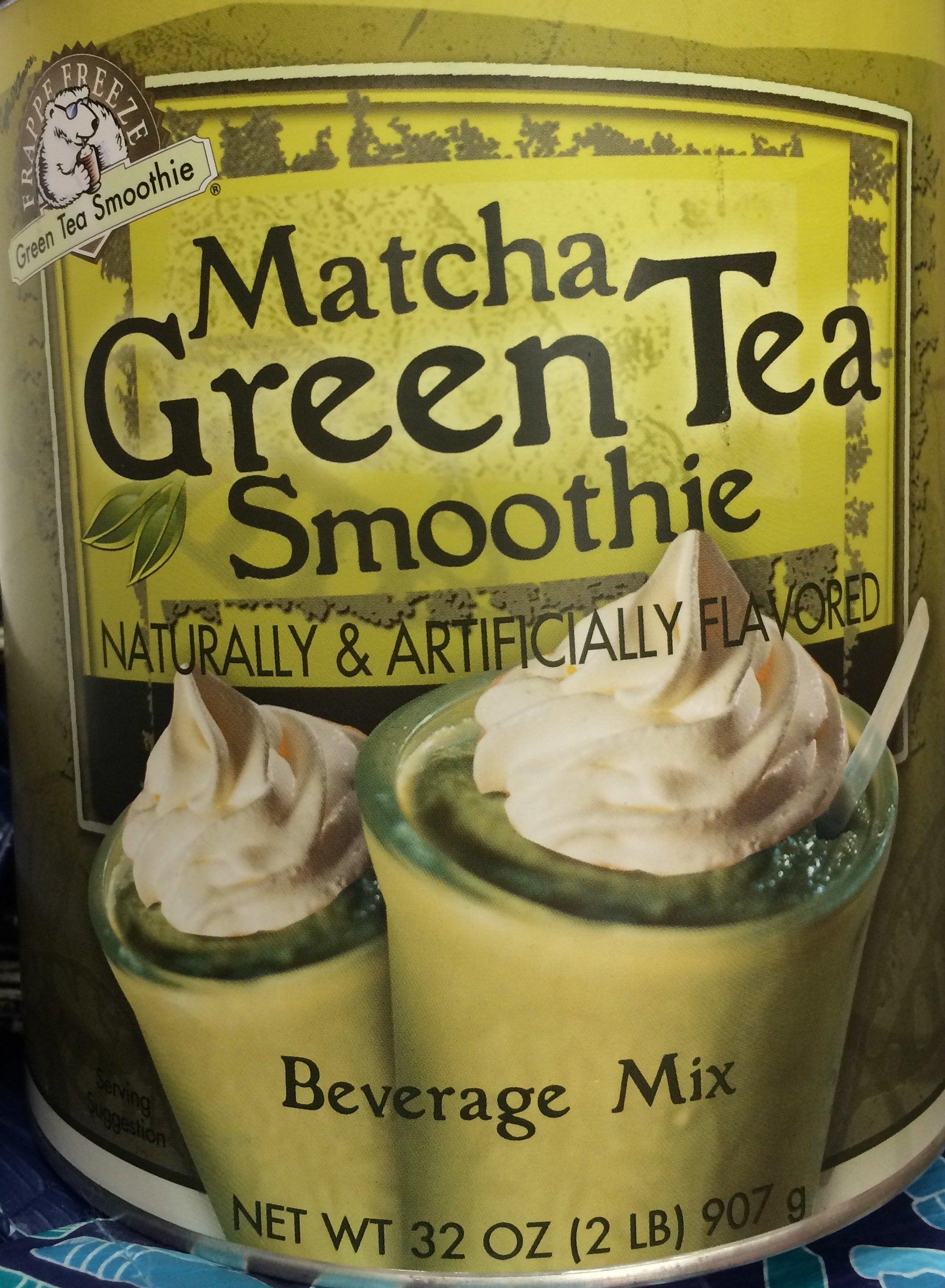 32oz Caffe D'Amore Matcha Green Tea Smoothie Mix Beverage