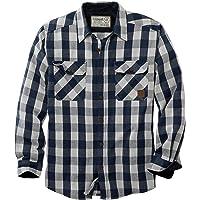 Legendary Whitetails Men's Tough as Buck Heavyweight Long Sleeve Flannel Shirt, Crimson Night Plaid, 4X-Large