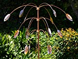 Stanwood Wind Sculpture: Kinetic Copper Triple