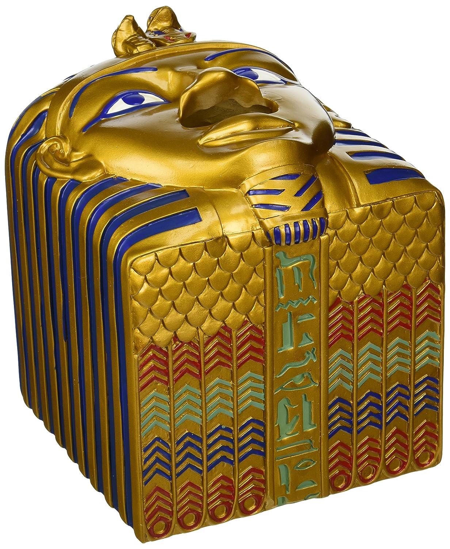 Design Toscano Tissue Box Cover - King Ah-Ah-Choo Egyptian Tissue Box Holder - Toilet Tissue Box QL404247