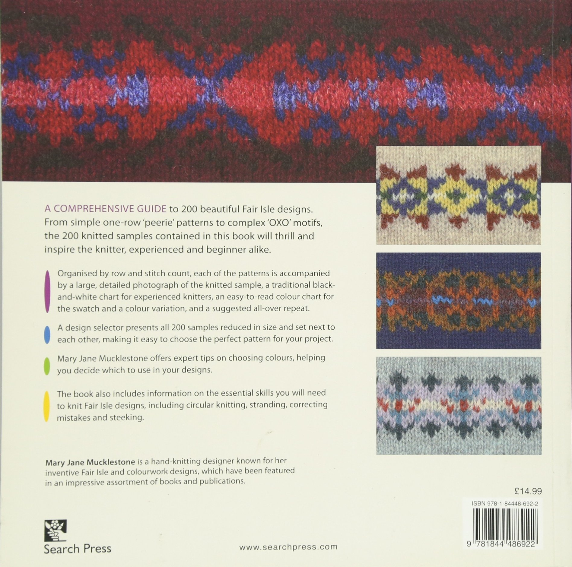 200 Fair Isle Designs Knitting Charts Combination Designs And