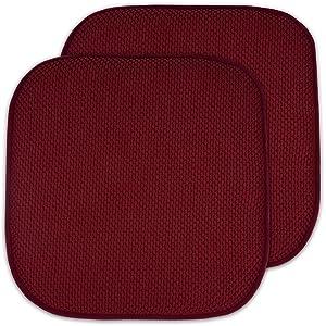 "2 Pack Memory Foam Honeycomb Nonslip Back 16"" x 16"" Chair/Seat Cushion Pad"