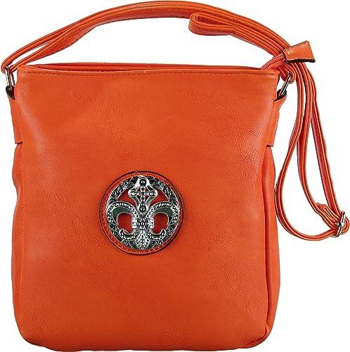 ad1f77ce89b9 A+ Fashion Messenger Cross Body Handbag Purse With Metal