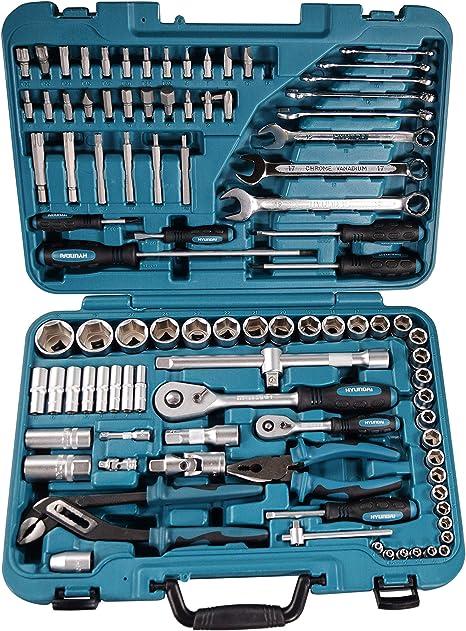 Hyundai HY-K98 Kit de Herramientas, Set de 98 Piezas: Amazon.es: Bricolaje y herramientas