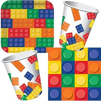 33 Juego de ladrillos Party Set * * con plato + taza + ...