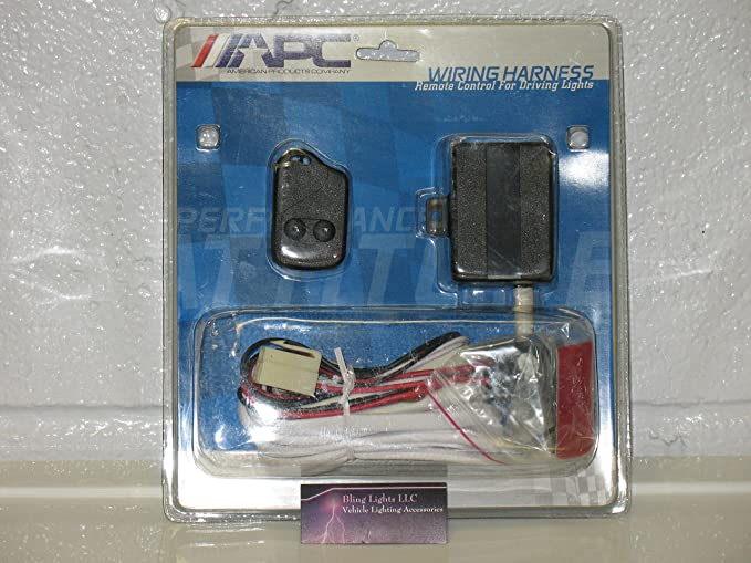 Amazon.com: 12V Remote Control Auxiliary Lamp Wiring Harness Light ...