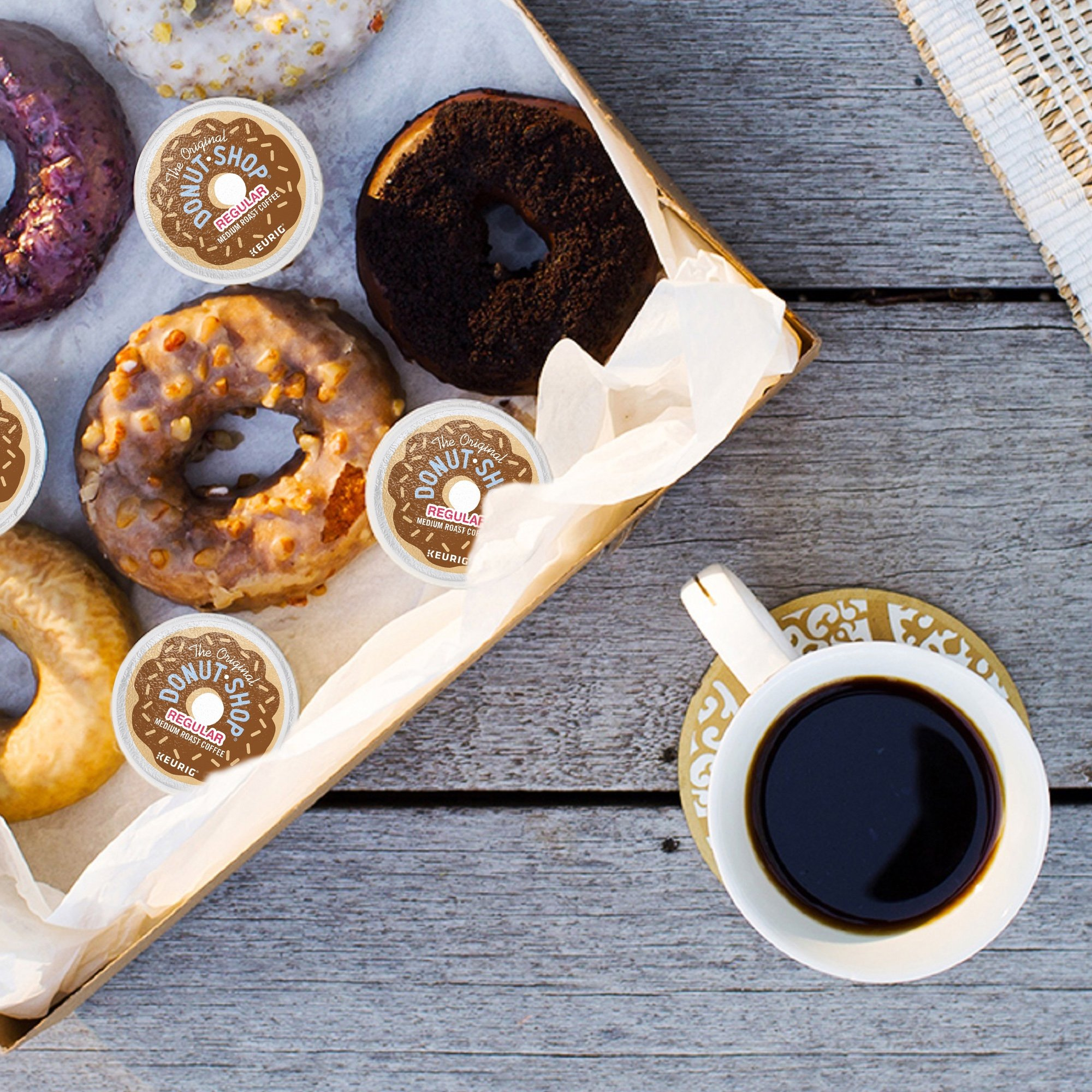 The Original Donut Shop Coffee, Regular Medium Roast, K-Cup Portion Count for Keurig Brewers 24-Count (Pack of 4) by The Original Donut Shop (Image #12)