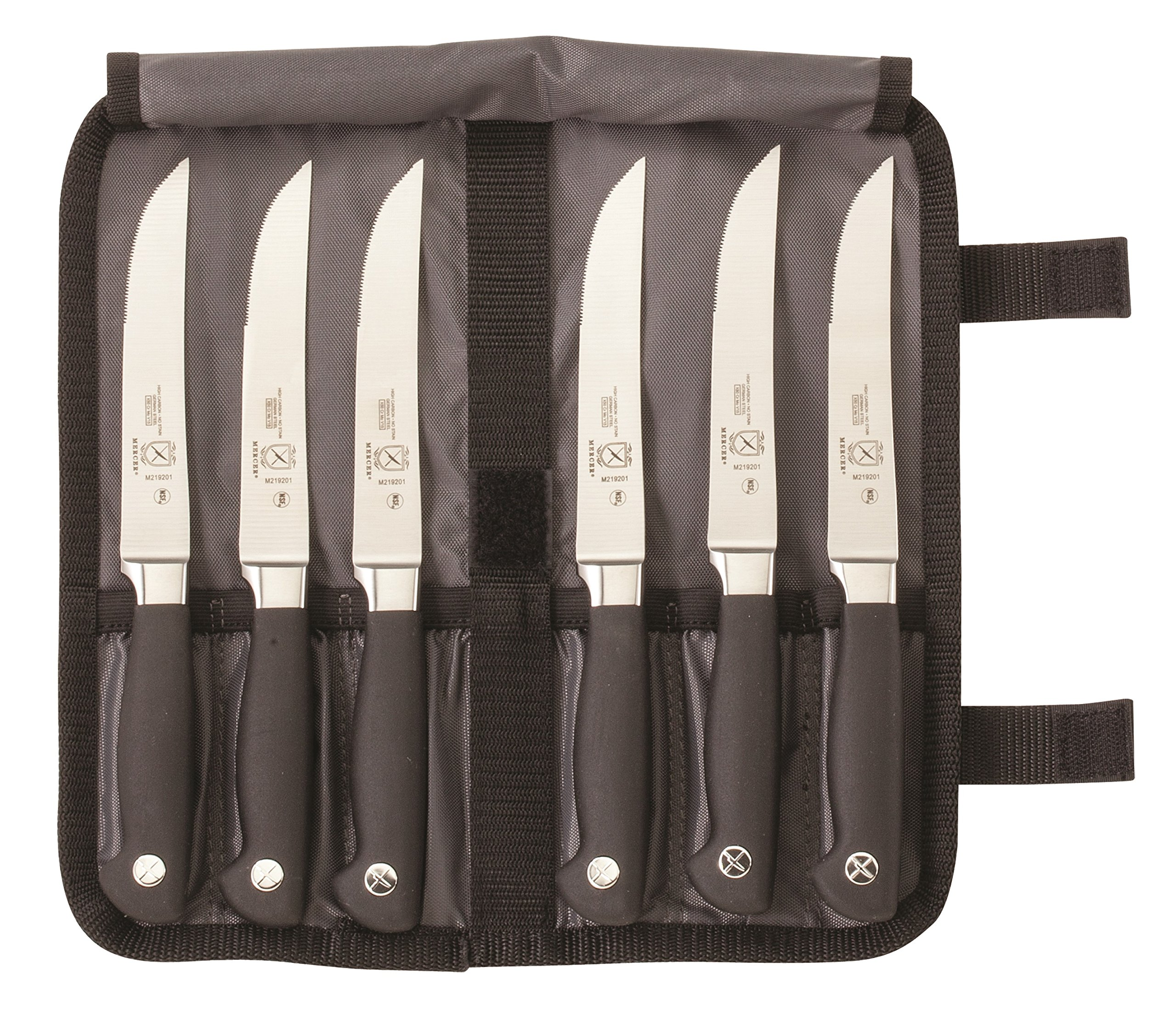 Mercer Culinary Genesis 7-Piece Forged Steak Knife Set