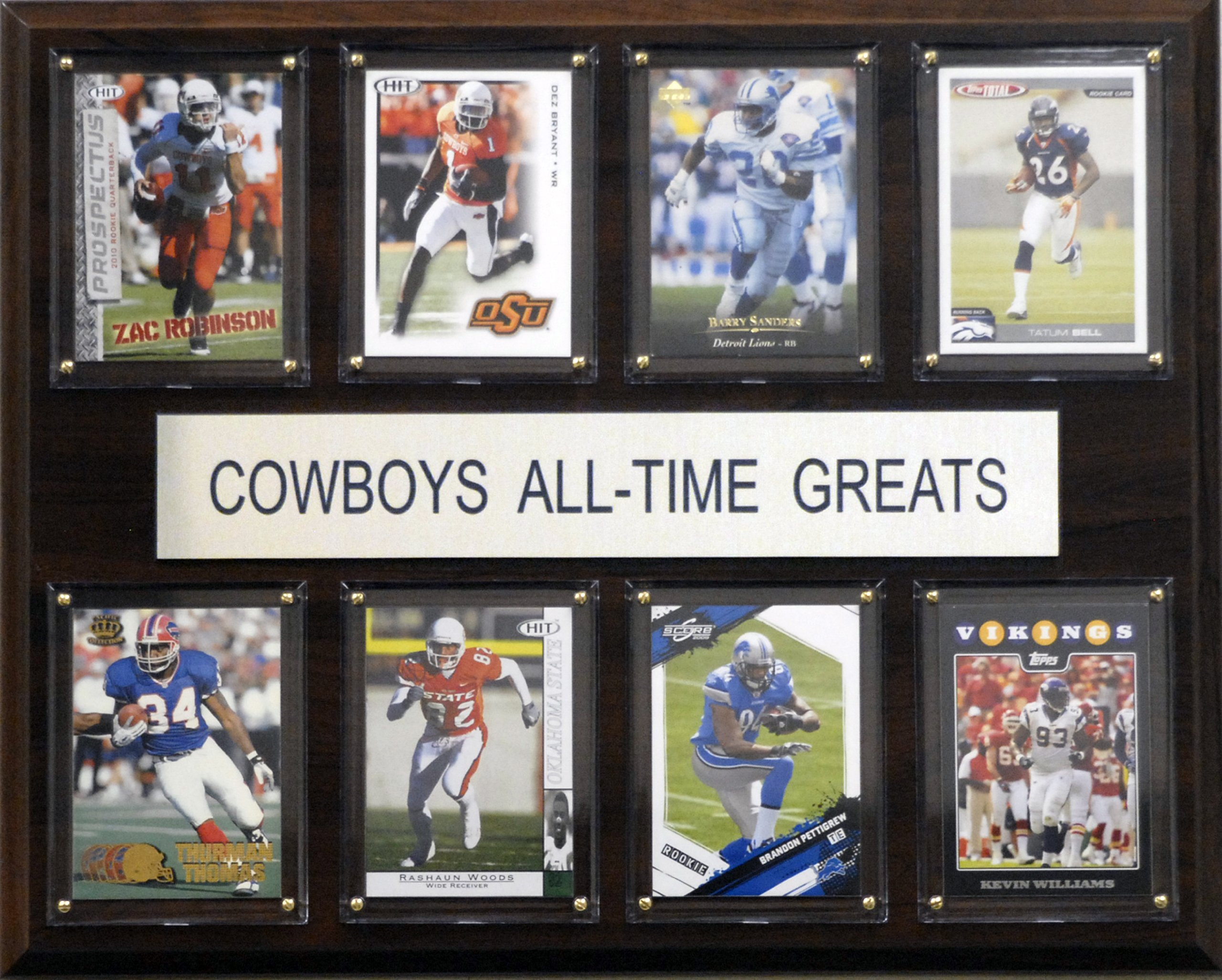 NCAA Football Oklahoma State Cowboys All-Time Greats Plaque by C&I Collectables (Image #1)
