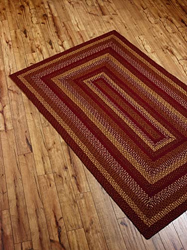 Retiring Pattern IHF Home Decor Maize Braided Area Rug Rectangle Jute Fabric Mat 8' x 10'