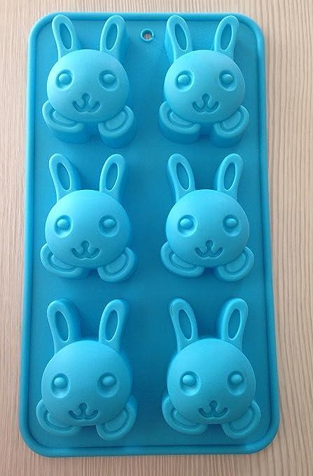 Molde formas de conejo moldes de silicona para pasteles yeso-Velas de jabón verde