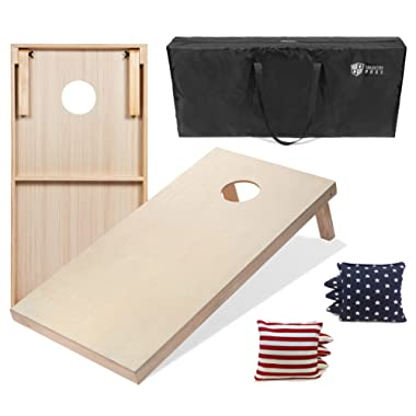 Tailgating Pros 4'x2' & 3'x2' Cornhole Boards w/Carrying Case & Set of 8 Cornhole Bags (You Pick Colors) 150+ Color Combos!