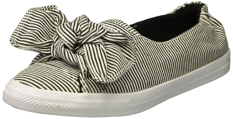 Converse Women's Knot Striped Chambray Slip on Sneaker B076TJ4KC7 9 B(M) US White/Black/White