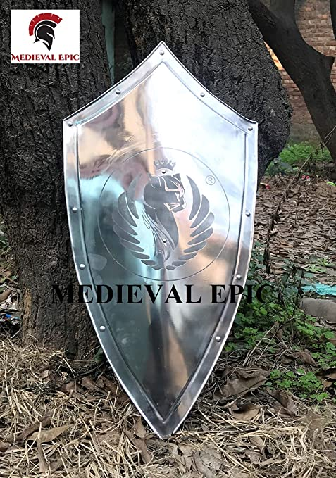 Disfraz medieval de caballero templario medieval con escudo de ...