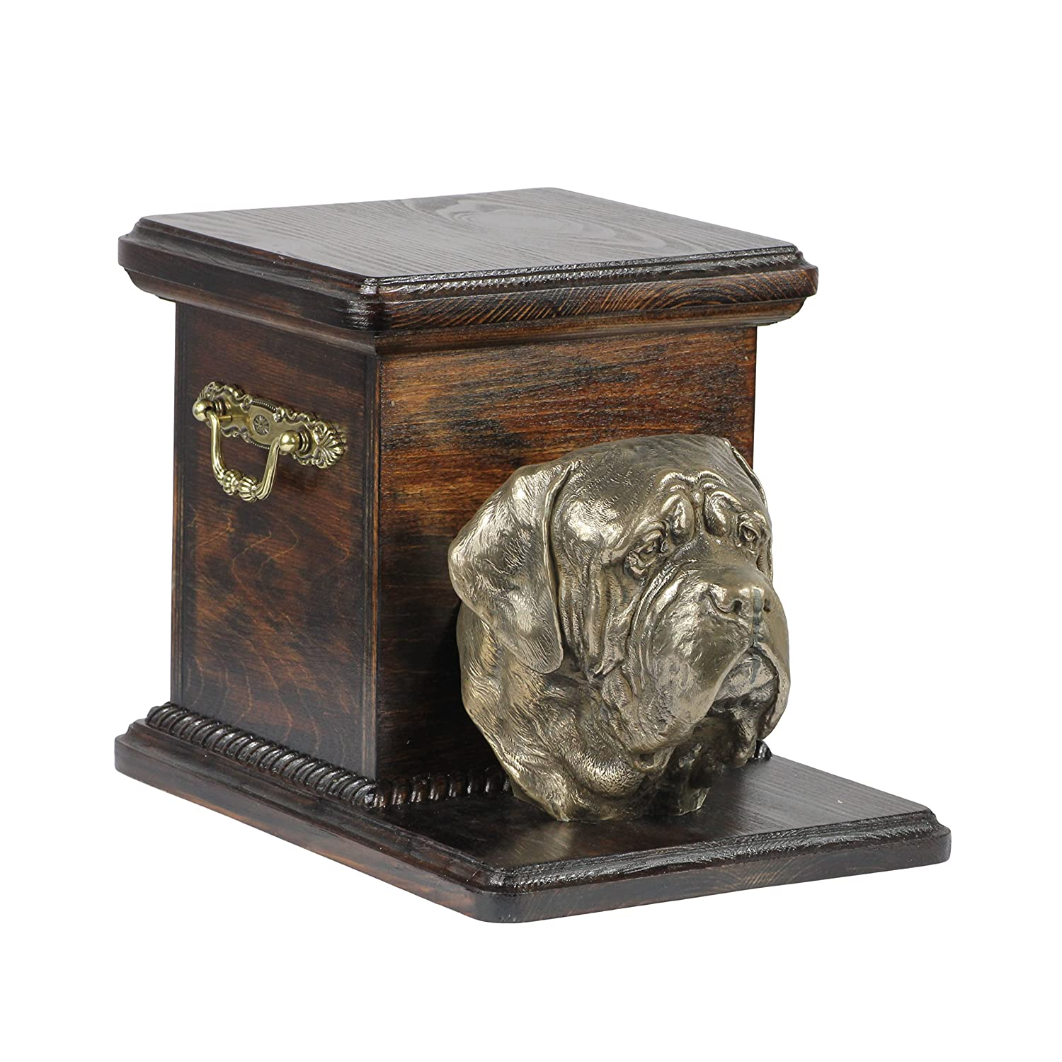 English Mastiff, memorial, urn for dog's ashes, with dog statue, ArtDog