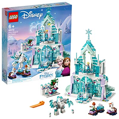 LEGO Disney Princess Elsa's Magical Ice Palace 43172 Toy Castle Building Kit with Mini Dolls, Castle Playset with Popular Frozen Characters including Elsa, Olaf, Anna and more (701 Pieces): Toys & Games