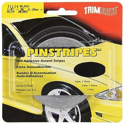 Trimbrite T1114 1/8 Pinstripe Tape Black: Automotive
