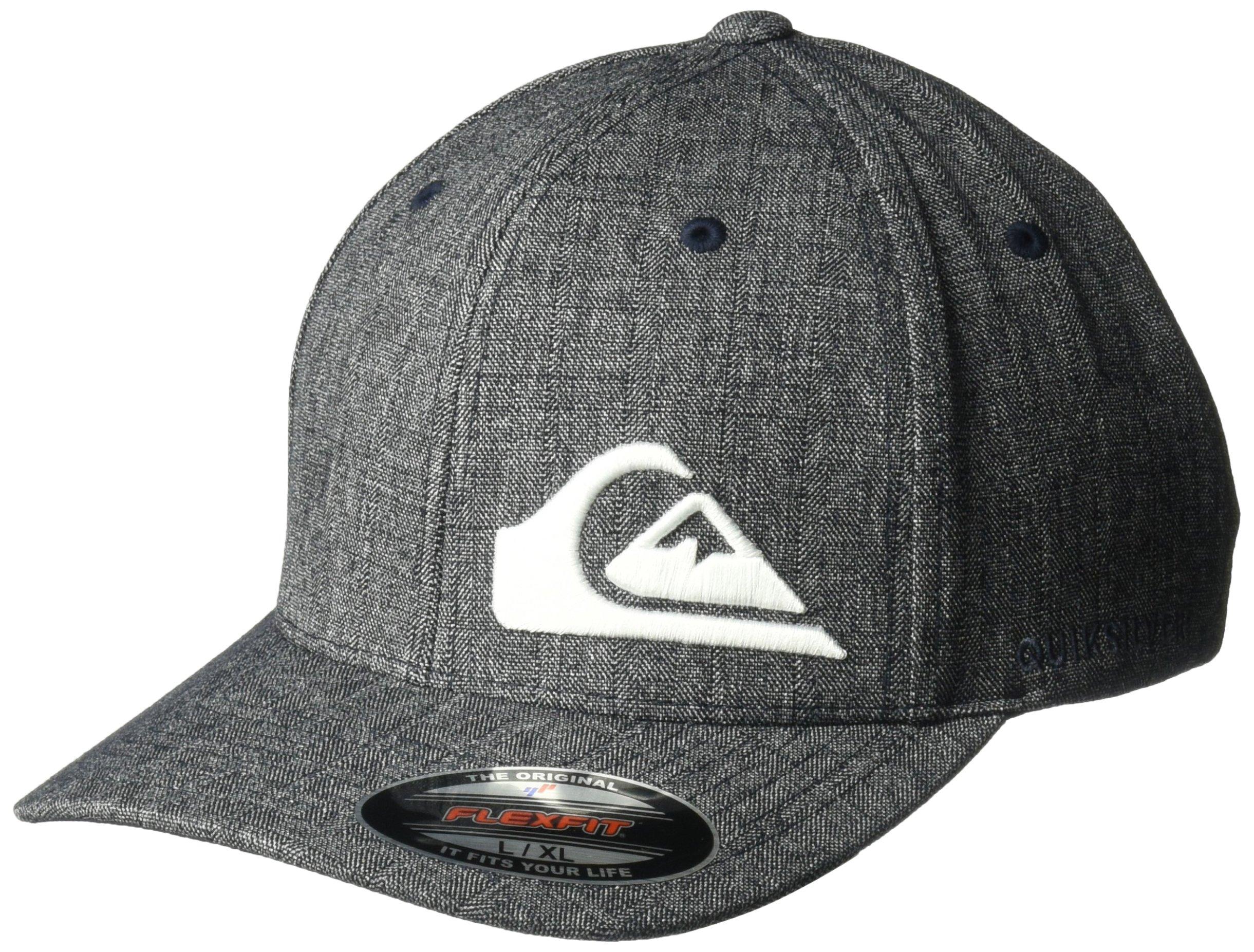 Quiksilver Men's Final Stretch Fit Hat, Navy Blazer Heather, L/XL