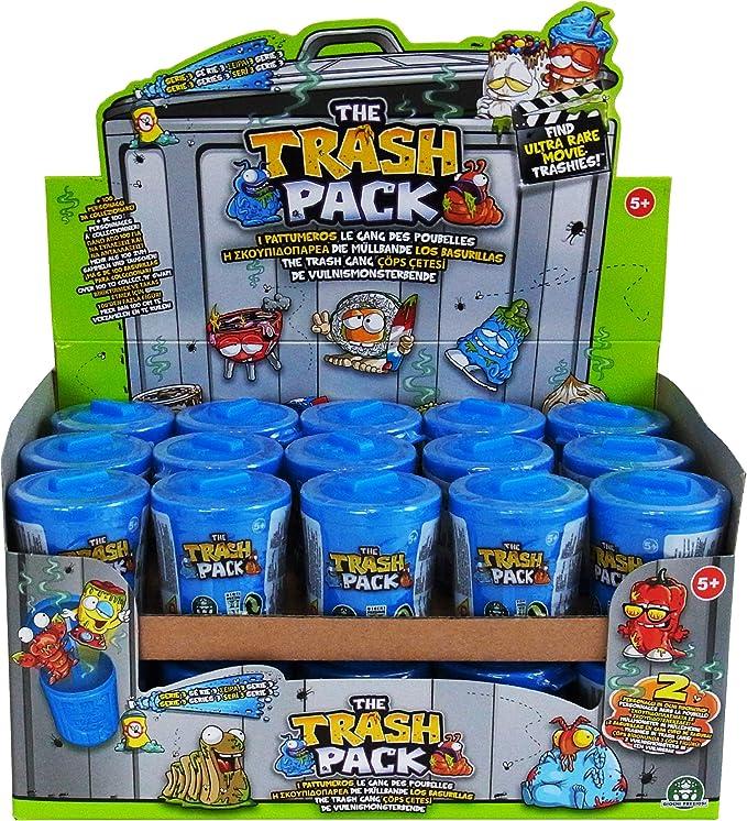 The Trash Pack Serie 3 - 30 Cubos de basura con 60 figuras: Amazon.es: Juguetes y juegos