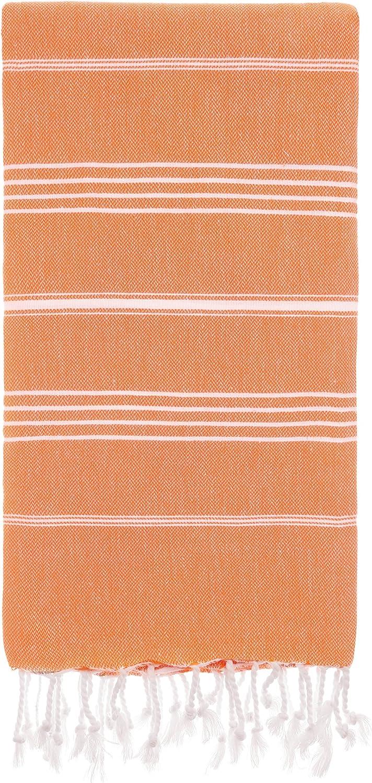 Pure-Serie 95 x 175 x 0.5 cm Baumwolle Cacala T/ürkische Badet/ücher Orange