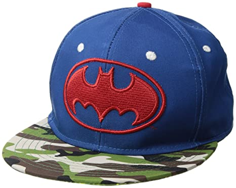 0e3a0a0505c81 Amazon.com: DC Comics Batman Camo Mashup Flat Brim Snapback Hat Cap ...