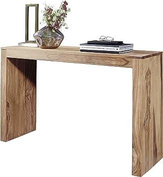 Wohnling Konsolentisch Massivholz Akazie Schreibtisch 115 X 40cm