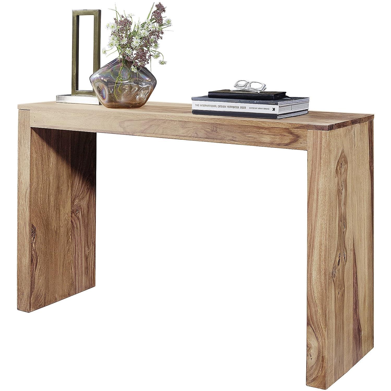 FineBuy Konsolentisch Massivholz Design Konsole Schreibtisch 115 115 115 x 40 cm Landhaus-Stil Arbeitstisch Naturholz modern 42f049