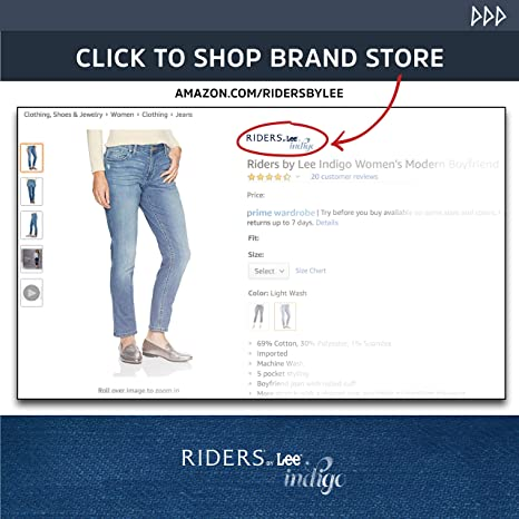 f0904b552d478 Riders by Lee Indigo Women s Pull-On Waist Smoother Straight-Leg Jean at  Amazon Women s Jeans store