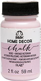 product image for FolkArt 36302 Home Decor Chalk Furniture & Craft Paint in Assorted Colors, 2 ounce, Vintage Victorian
