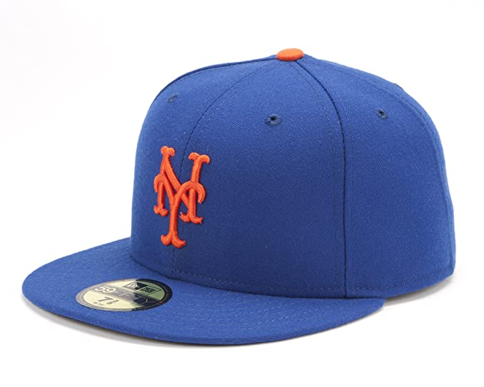 e1265af53f1 Amazon.com   MLB New York Mets Authentic On Field 59Fifty Cap Light Royal    Sports Fan Baseball Caps   Clothing