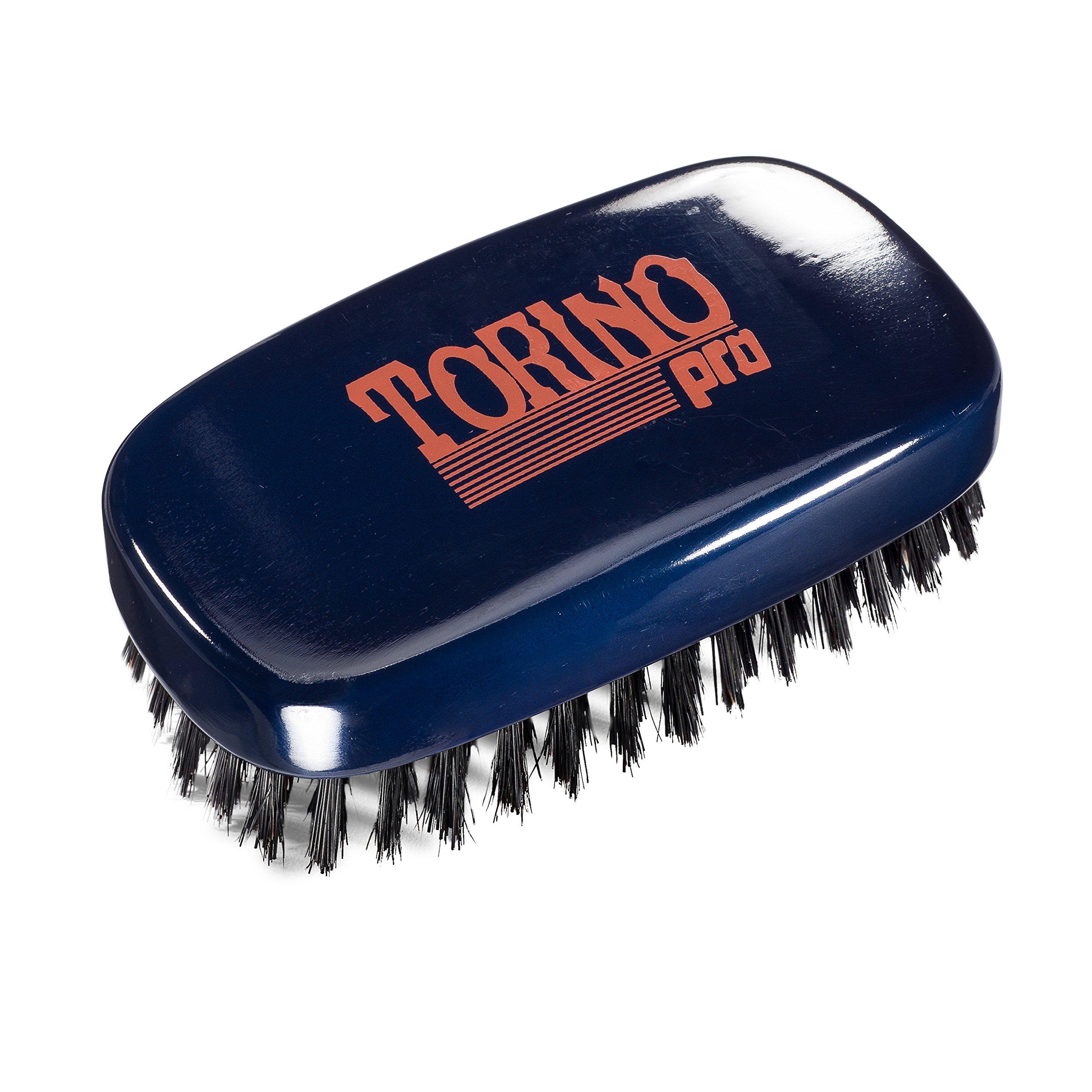 Torino Pro Wave Brush #770 By Brush King - 11 Row Medium Hard 360 Waves Palm Brush - Great for Wolfing