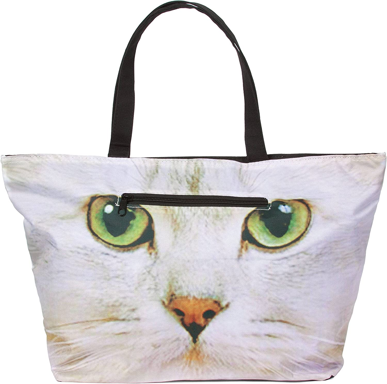 Hollywood Mirror Cat Face Tote Bag