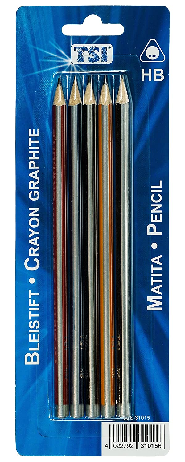 TSI 31015Pencil Pack of 5Hardness HB