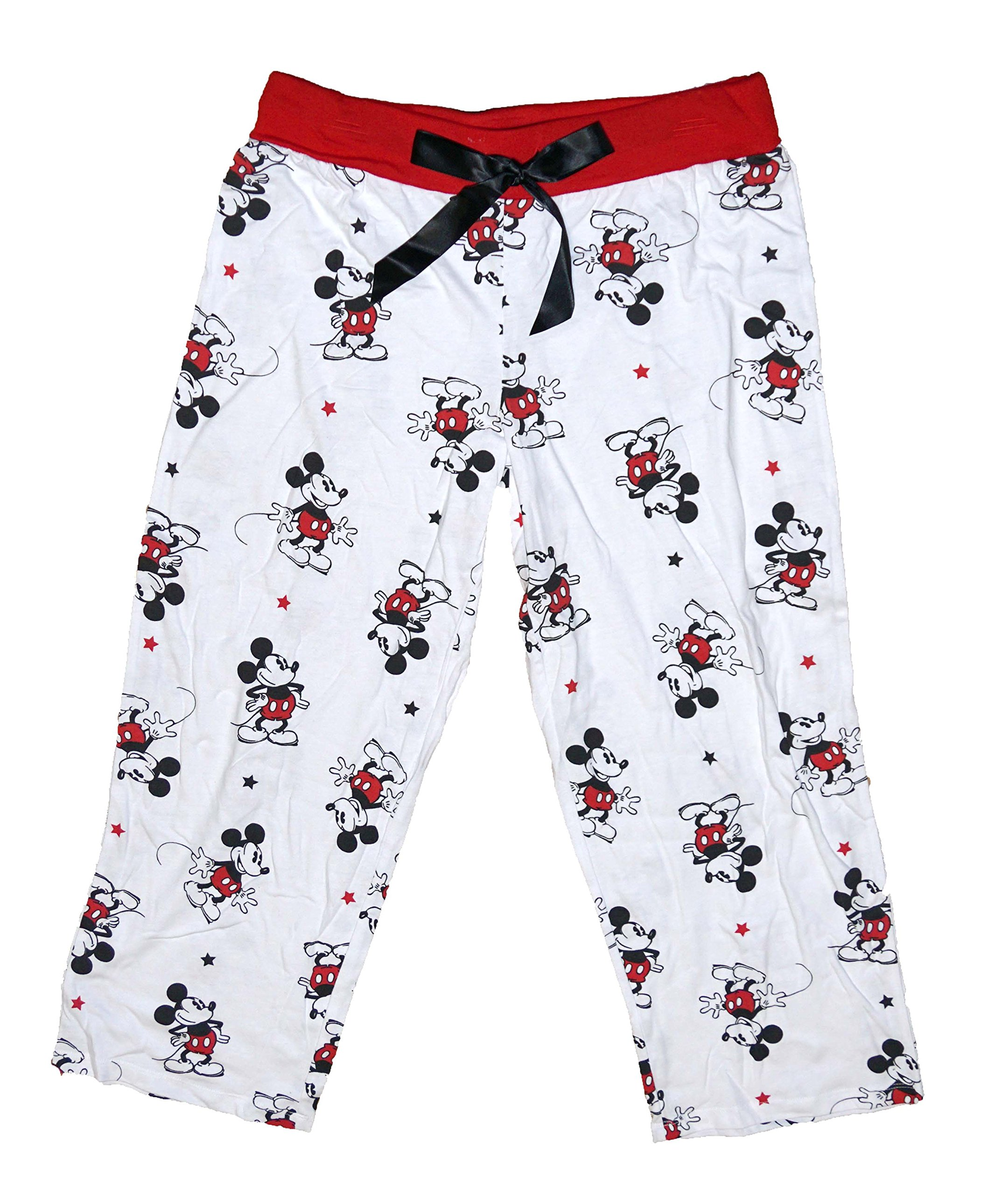 Disney Mickey Mouse Womens Pajama Pant With Classic Mickey Print - Red White