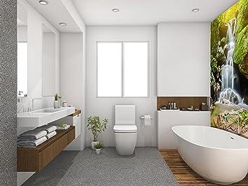 Revestimiento de Suelo 3D para Cuarto de baño Vinilo PVC Alfombra ...