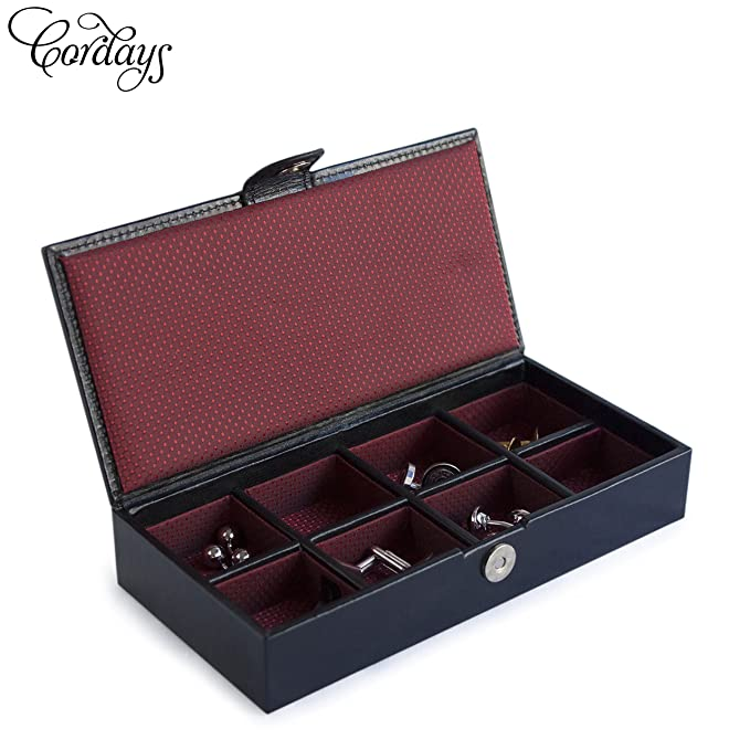 Cordays - Estuche Deluxe en Piel para Gemelos y Anillos -Calidad Premium- Caja Organizadora Gemelos, Anillos, Accesorios de Joyería y Bisutería de ...